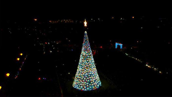 Puerto Princesa City's 100 foot Christmas Tree December 2018